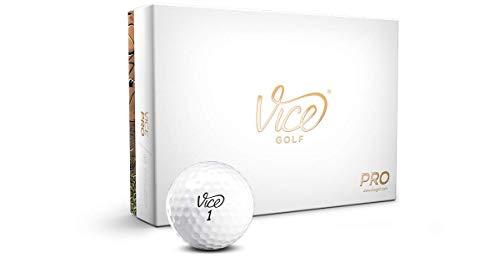 Vice Golf Pro Golf Balls, White