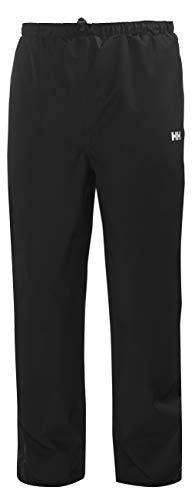 Helly Hansen Men's Seven J Waterproof Windproof Breathable Rain Pant, 990 Black, Large