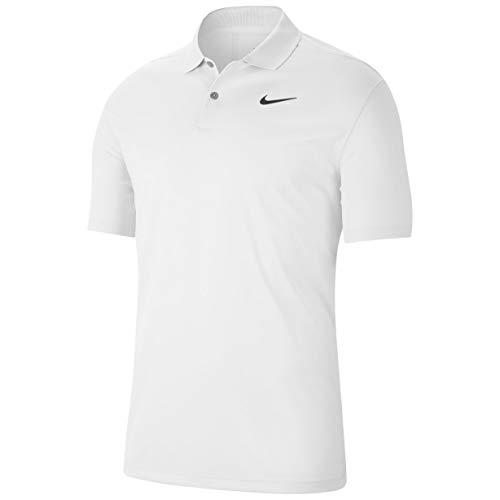 Nike Men's Nike Dri-fit Victory Polo, White/Black, Large