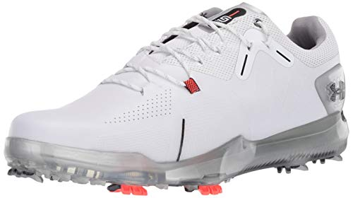 Under Armour Men's Spieth 4 Gore-TEX Golf Shoe, White (100)/Metallic Silver, 10.5 2E US