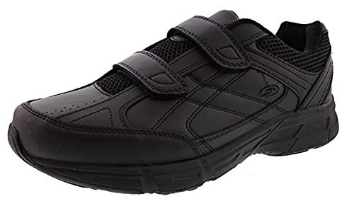 Dr. Scholl's - Men's Brisk Light Weight Dual Strap Sneaker, Wide Width (8.5 Wide, Black)
