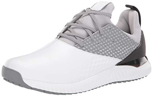 adidas Men's Adicross Bounce 2 Golf Shoe, White/Silver Metallic/Grey Two, 9 Medium US