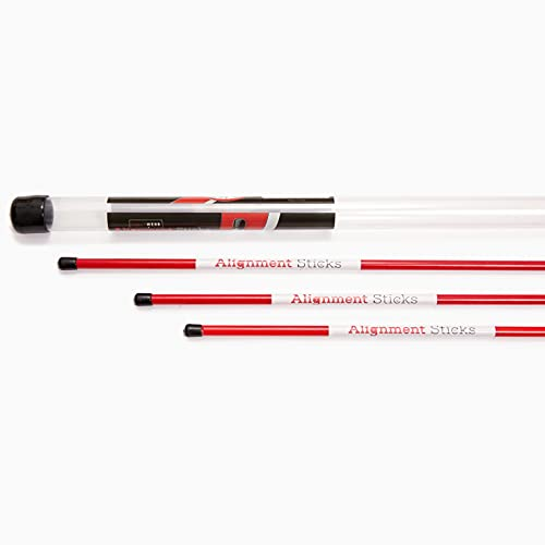 SHAUN WEBB Golf Alignment Sticks (Pack of 3) Swing with Confidence and Accurately. Get Instant Feedback & Improve Your Swing. Set up Your Body, Balls and Club in Perfect Alignment. Golf Gifts for Men