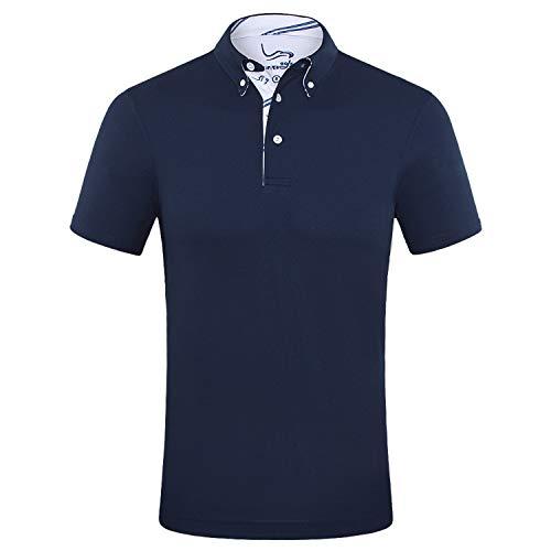 EAGEGOF Men's Shirts Short Sleeve Tech Performance Golf Polo Shirt Standard Fit