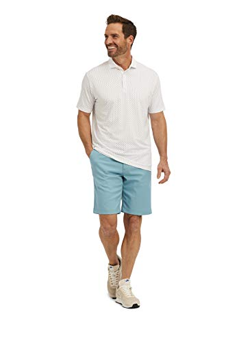 Mizzen + Main Phil Mickelson Golf Polo Collection - Men's Casual Shirt, Trim Fit Small, Multi Blue Line Print