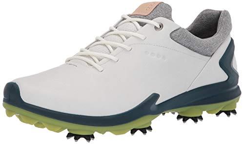 ECCO Men's Biom G3 Gore-TEX Golf Shoe, Shadow White/Dark Petrol Yak Leather, 12-12.5
