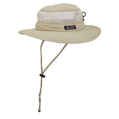 Dorfman Pacific Men's Boonie Mesh Sides Hat (Large, Khaki)