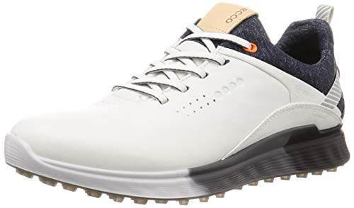 ECCO Men's S-Three Gore-TEX Golf Shoe, White, 8-8.5