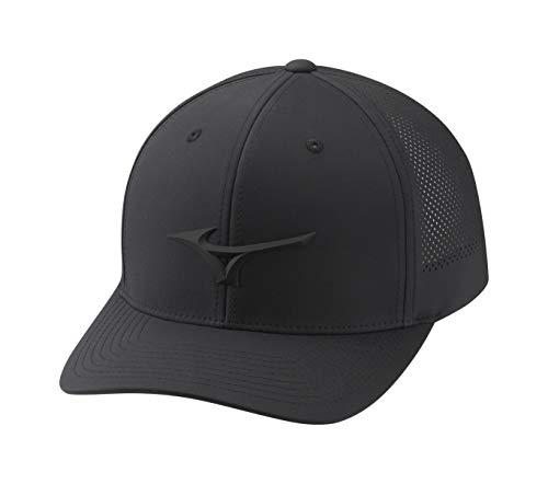 Mizuno Tour Vent Adjustable Hat, One Size Fits All, BLACK
