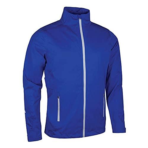 Sunderland Mens SUNMR47 Whisperdry Lightweight Waterproof Golf Jacket Electric Blue/Silver L