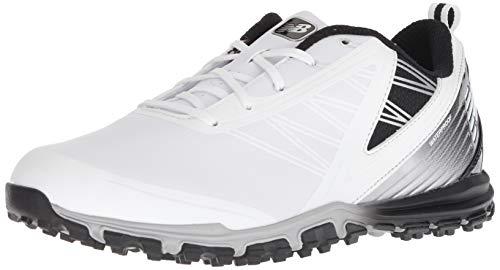 New Balance Men's Minimus SL Waterproof Spikeless Comfort Golf Shoe, 9.5 D D US, white/black