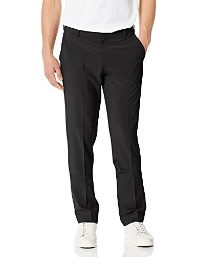 IZOD Men's Golf Swing Flex Stretch Flat Front Pant, black, 34W X 32L