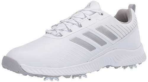 adidas Women's W Response Bounce 2 Golf Shoe, FTWR White/Silver Metallic/Grey Two, 7 Medium US