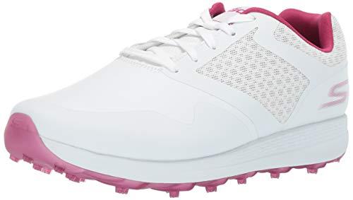 Skechers Women's Max Golf Shoe, White/Purple, 5.5 M US