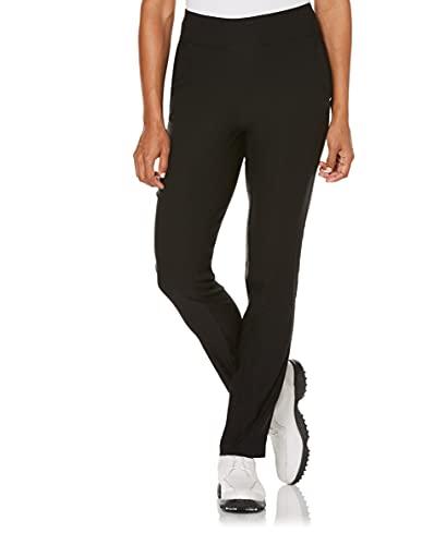 PGA TOUR Women's Plus Size Pull-On Golf Pant, Caviar (Black) , X Large