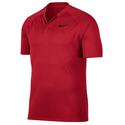 Nike Men's Dry Momentum Team Polo Golf Shirt, University Red/Black, Custom Size