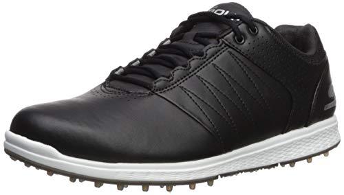 Skechers Men's Pivot Spikeless Golf Shoe, Black/White, 9.5