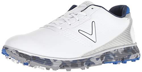 Callaway Men's Balboa TRX Golf Shoe, White/Blue, 10.5 M US