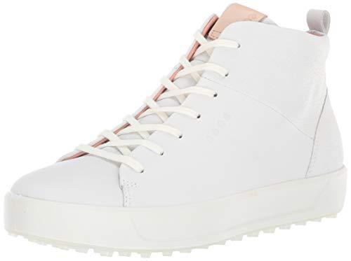ECCO Women's Soft High Hydromax Golf Shoe, White, 5-5.5