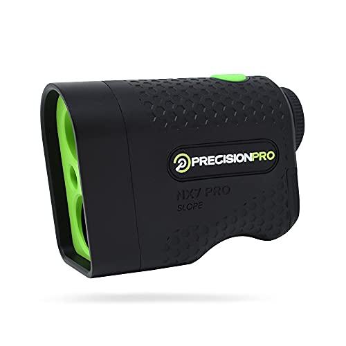 Precision Pro NX7 Pro Golf Rangefinder, Laser Golf Rangefinder with Slope, 600 Yard Range, Flag Lock with Pulse Vibration, 6X Magnification, Golf Range Finder Case, Lifetime Batteries