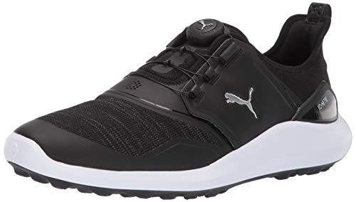 Puma Golf Men's Ignite Nxt Disc Golf Shoe, Puma Black-Puma Silver-Puma White, 10 M US