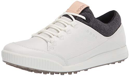 ECCO Men's Street Retro Hydromax Golf Shoe, Bright White, 10-10.5