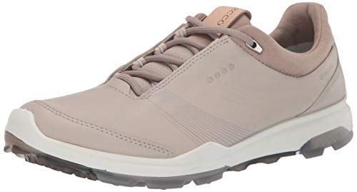 ECCO womens Biom Hybrid 3 Gore-tex Golf Shoe, Gravel Yak Leather, 7-7.5 US