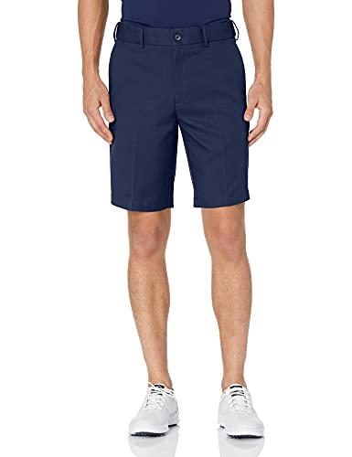 PGA TOUR Men's Expandable Flat Front Golf Short, Black Iris, 38