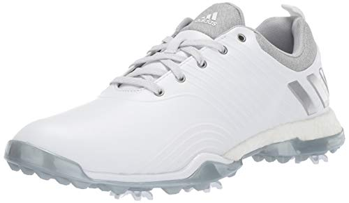 adidas Women's Adipower 4ORGED Golf Shoe, FTWR White/Silver Metallic/Clear Onix, 5 M US