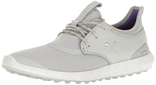 PUMA Women's Ignite Spikeless Sport WMNS Golf Shoe, Gray Violet Silver-Royal Purple, 10.5 Medium US
