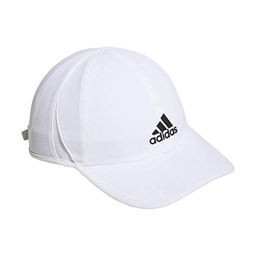 adidas Men's Superlite Relaxed Adjustable Performance Cap, White/Black, ONE SIZE