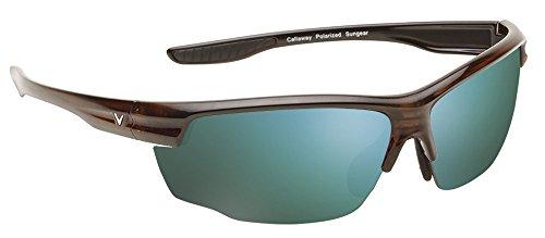 Callaway Sungear Kite Polarized Sunglasses Golf Eye Protection, Tortoise & Gray/Green Mirror