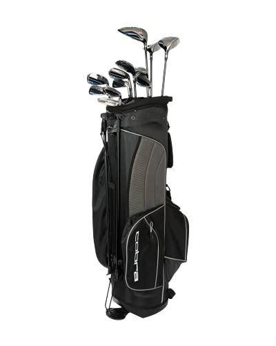 Cobra Golf 2021 Fly XL Complete Set Stand Bag Black-Blue (Men's Left Hand, Graphite Woods-Graphite Irons, Senior Flex, DR-11.5, 3W-14.5, 5W-18.5, 4H-20.5, 5H-23.6, 7-PW, SW, Putter, Stand Bag)