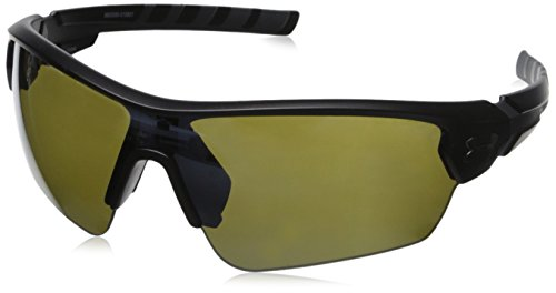 Under Armour Rival Shield Sunglasses Satin Black / Game Day Multiflection Lens One Size Fits All