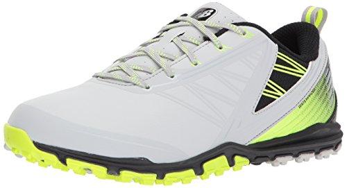 New Balance Men's Minimus SL Waterproof Spikeless Comfort Golf Shoe, 9.5 2E 2E US, grey/green