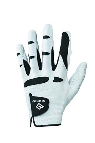 Bionic GGNCMLM Men's StableGrip with Natural Fit Golf Glove, Left Hand, Cadet Medium , White