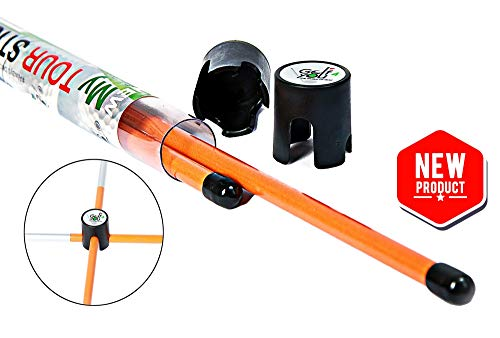 New Improved Design Set of 2 Orange Golf Alignment Sticks + Includes 2 Connectors! | Single Size 38 inches | an Essential Multifunctional Golf Accessories for Your Practice Sessions