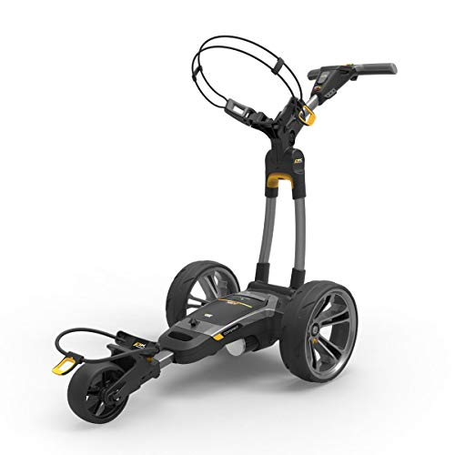 PowaKaddy CT6 GPS EBS Lithium Compact Electric Golf Trolley (Standard 18 Hole Battery) Gunmetal – - Built in Golf GPS System -from in The Hole Golf