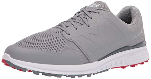 Callaway Men's Solana XT Golf Shoe, Grey, 9 Wide