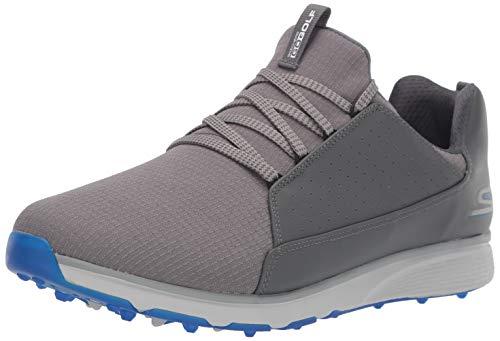 Skechers Men's GO Mojo Waterproof Golf Shoe, Charcoal/Blue Textile, 11 W US