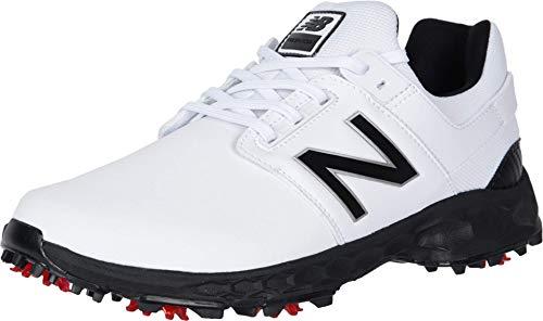 New Balance Men's LinksPro Golf Shoe, White/Black, 15