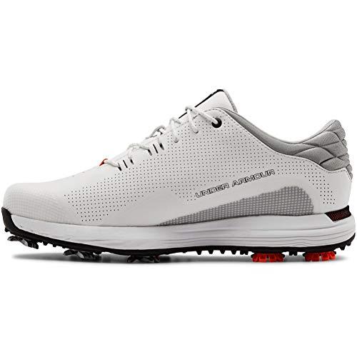 Under Armour Men's HOVR Matchplay Golf Shoe, White (100)/Black, 7