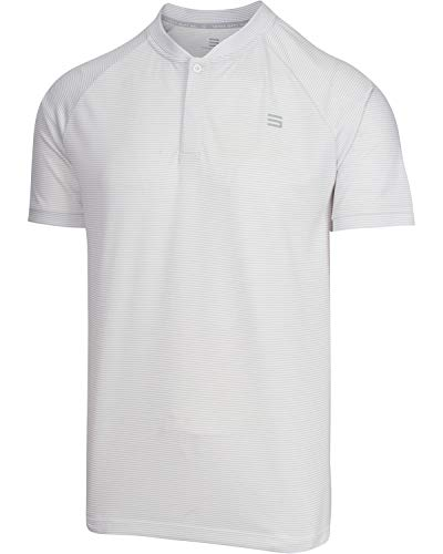 Three Sixty Six Collarless Golf Shirts for Men - Men's Casual Dry Fit Short Sleeve Polo, Lightweight and Breathable
