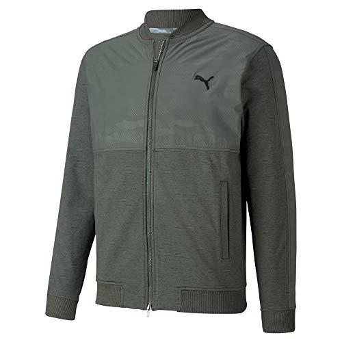 PUMA Golf 2020 Men's Cloudspun Stlth Camo Jacket, Thyme, Large