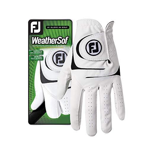 FootJoy Men's WeatherSof Golf Glove White Cadet Small, Worn on Left Hand
