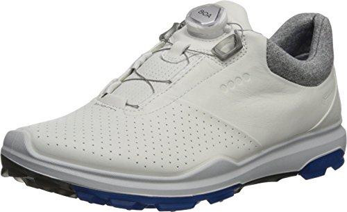 ECCO mens Biom Hybrid 3 Boa Gore-tex Golf Shoe, White/Dynasty Yak Leather, 12-12.5 US