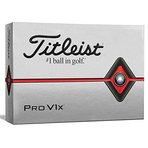 Titleist Pro V1x Golf Balls, White, Standard Play Numbers (1-4), One Dozen