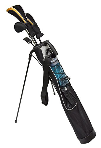 JEF WORLD OF GOLF JR1256 Pitch & Putt Sunday Bag with Stand & Handle, Black