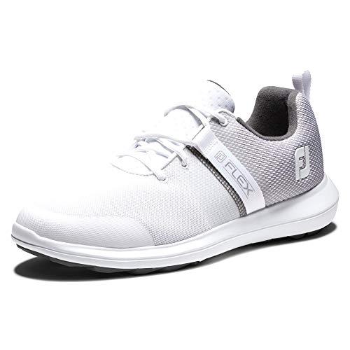 FootJoy Men's FJ Flex Previous Season Style Golf Shoe, White, 10.5