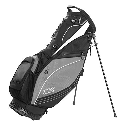 Izzo Golf Ultra-Lite Stand Golf Bag with Dual-Strap & Exclusive Features, Black/Gray
